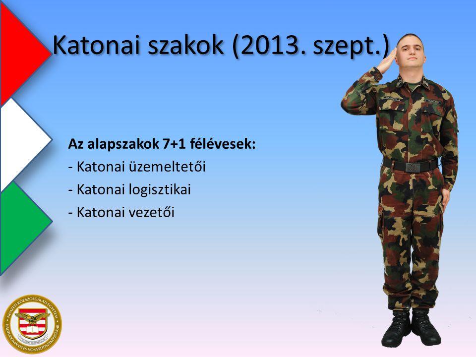 Katonai szakok (2013. szept.)