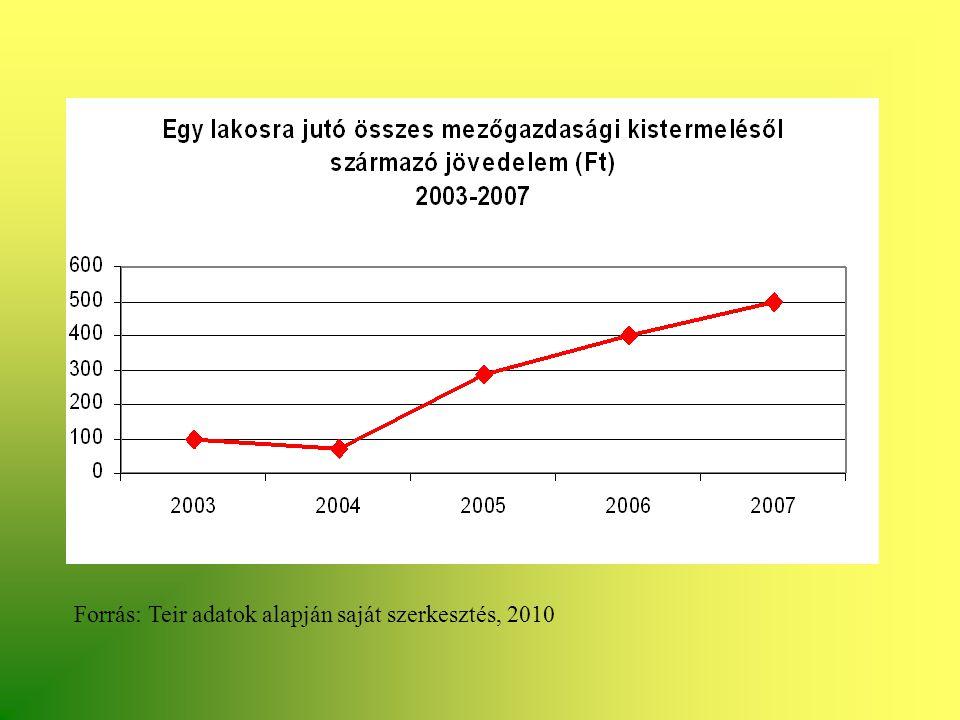 Forrás: Teir adatok alapján saját szerkesztés, 2010
