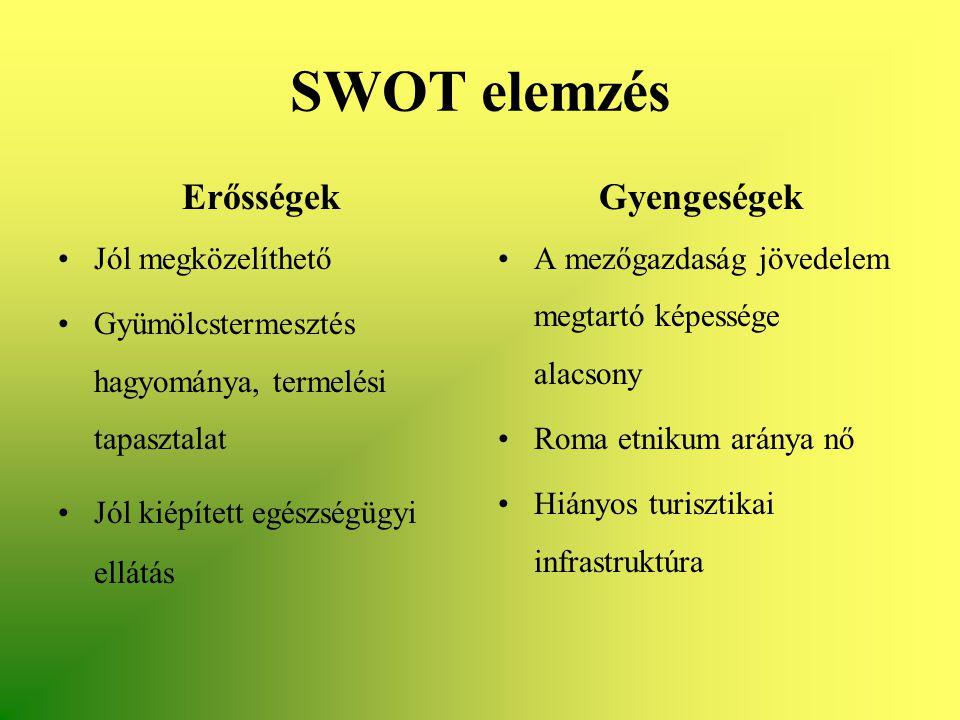 SWOT elemzés Erősségek Gyengeségek Jól megközelíthető