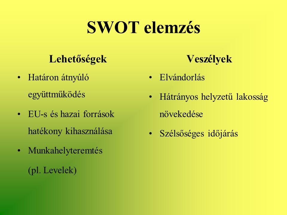 SWOT elemzés Lehetőségek Veszélyek Határon átnyúló együttműködés