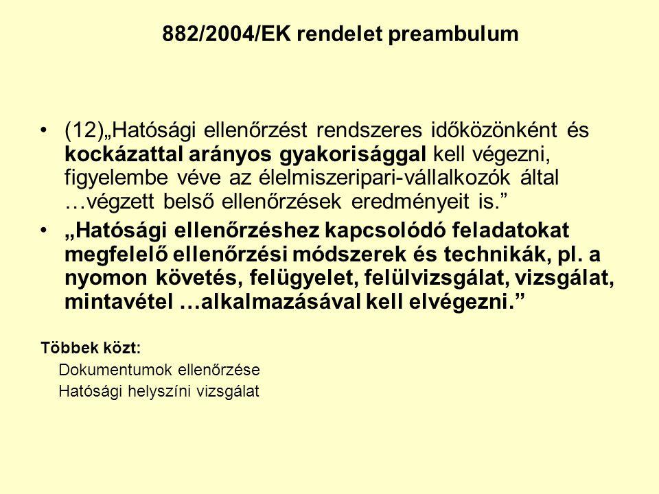 882/2004/EK rendelet preambulum