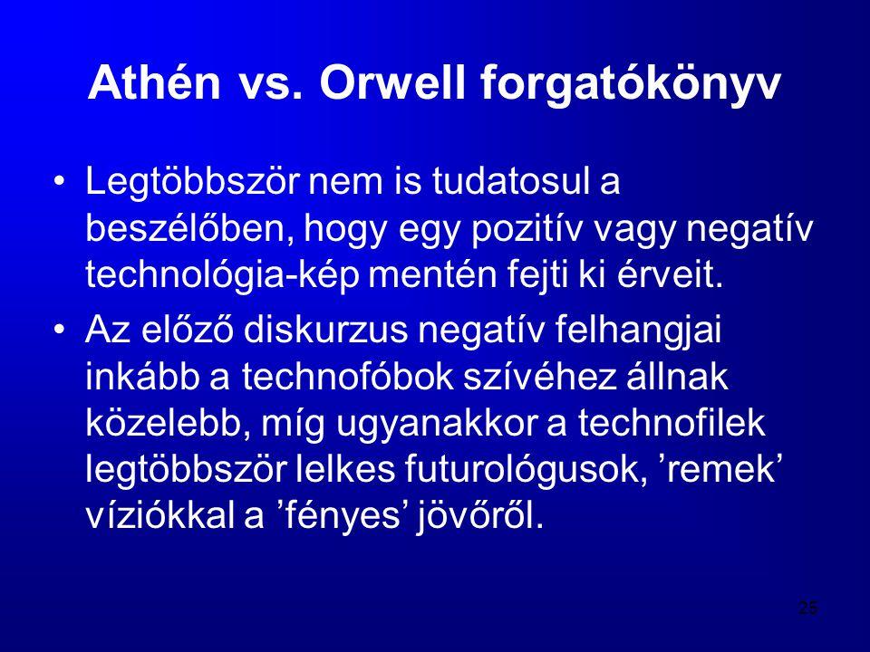 Athén vs. Orwell forgatókönyv