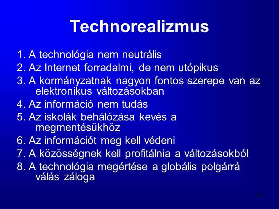 Technorealizmus 1. A technológia nem neutrális