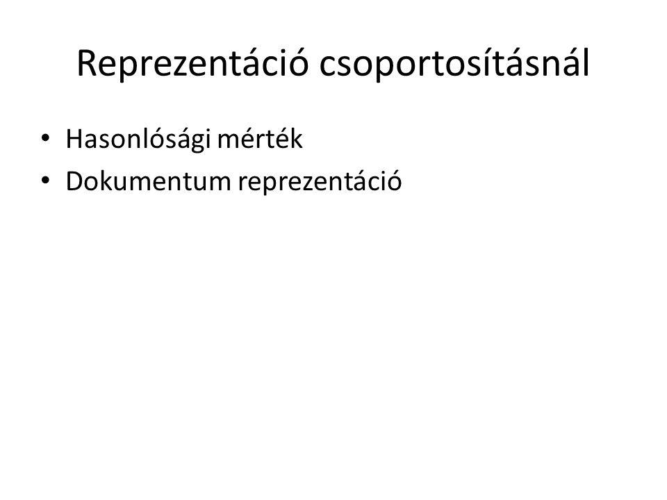 Reprezentáció csoportosításnál