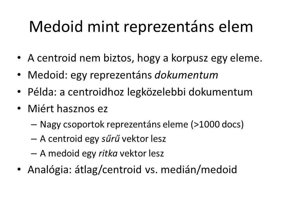 Medoid mint reprezentáns elem