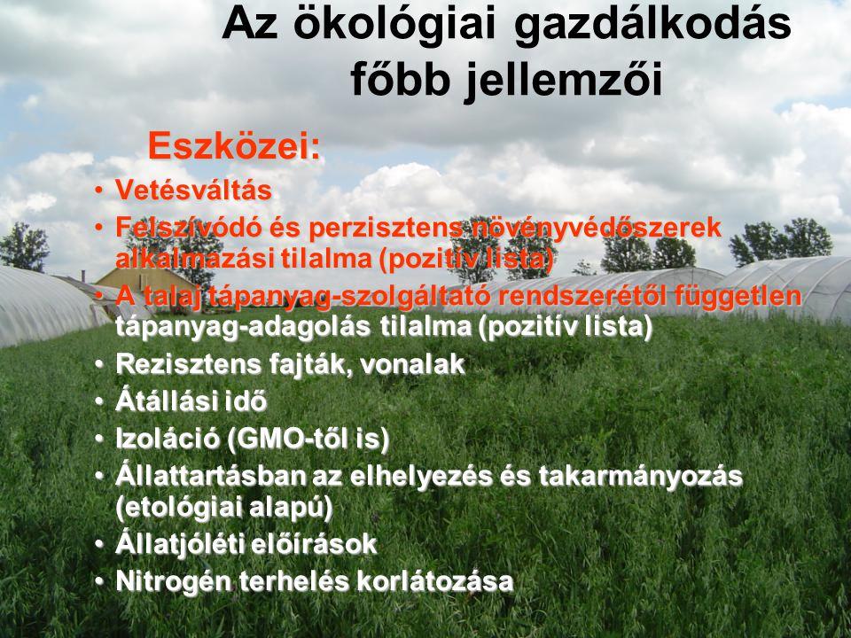 Az ökológiai gazdálkodás főbb jellemzői