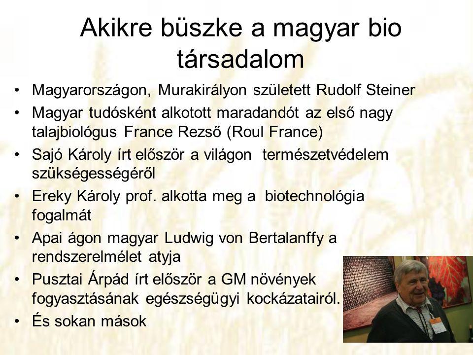 Akikre büszke a magyar bio társadalom