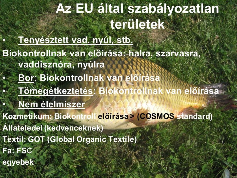 Az EU által szabályozatlan területek
