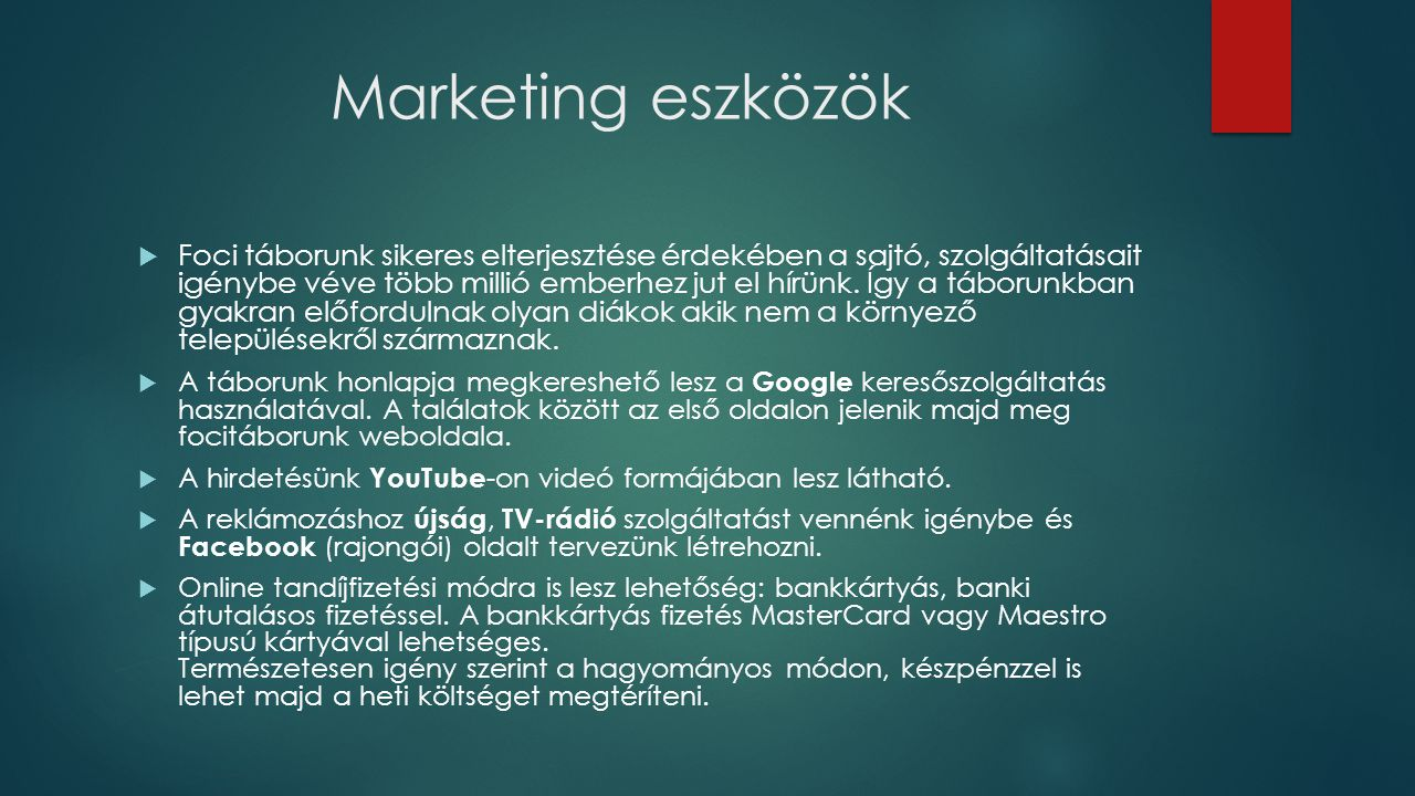 Marketing eszközök