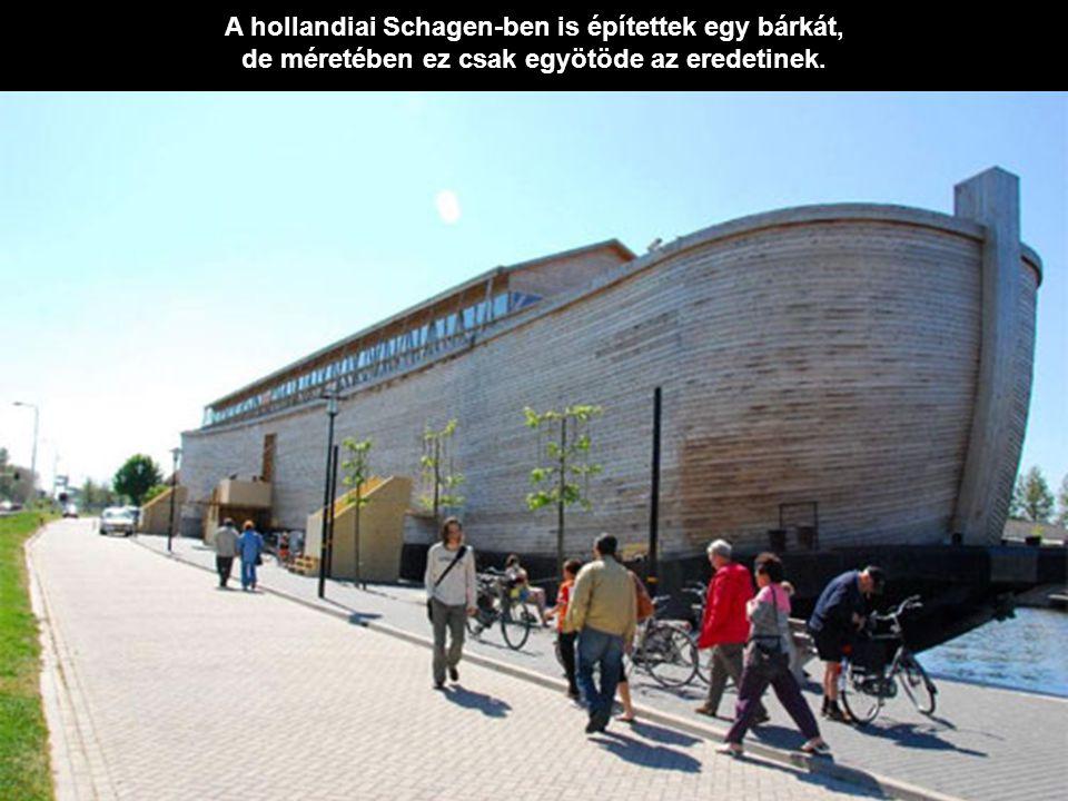 A hollandiai Schagen-ben is építettek egy bárkát,