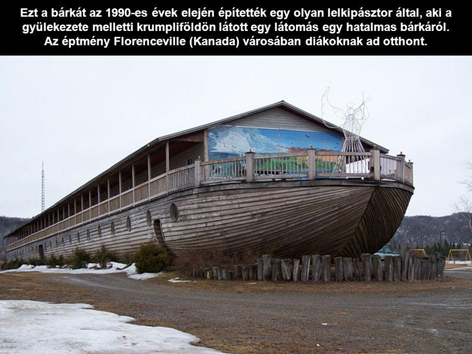 Ezt a bárkát az 1990-es évek elején építették egy olyan lelkipásztor által, aki a gyülekezete melletti krumpliföldön látott egy látomás egy hatalmas bárkáról.