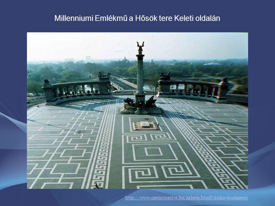 Millenniumi Emlékmű a Hősök tere Keleti oldalán