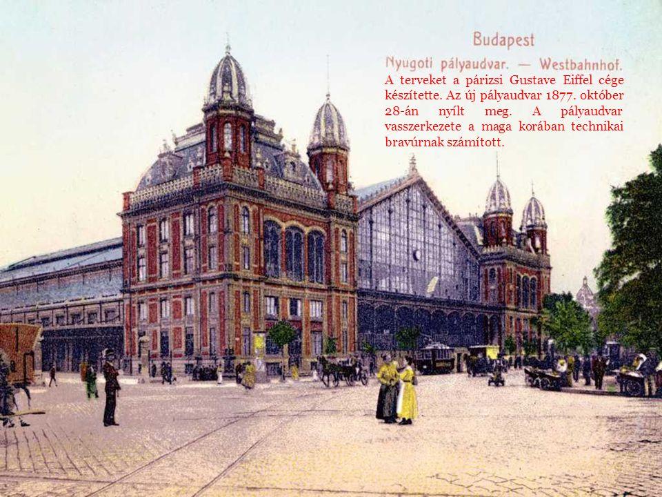 A terveket a párizsi Gustave Eiffel cége készítette