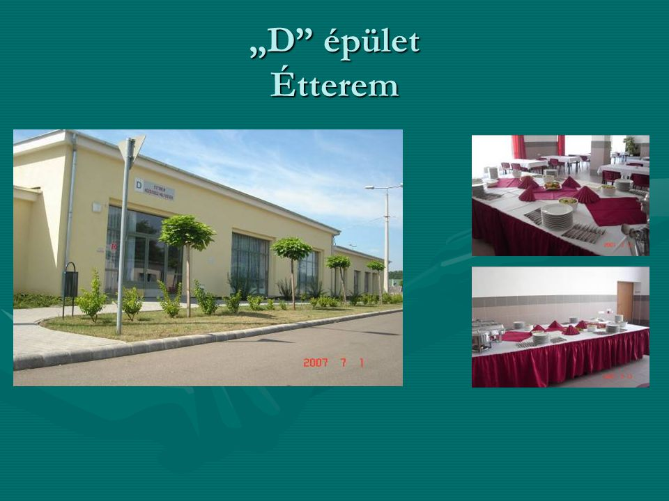 """""""D épület Étterem"""