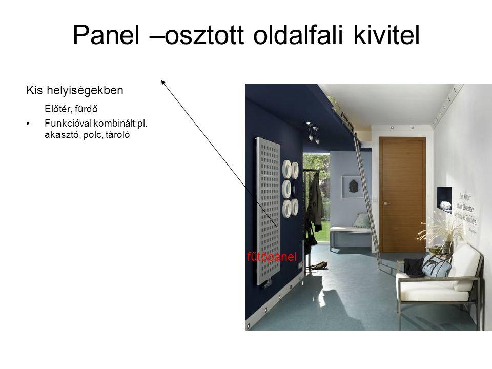 Panel –osztott oldalfali kivitel