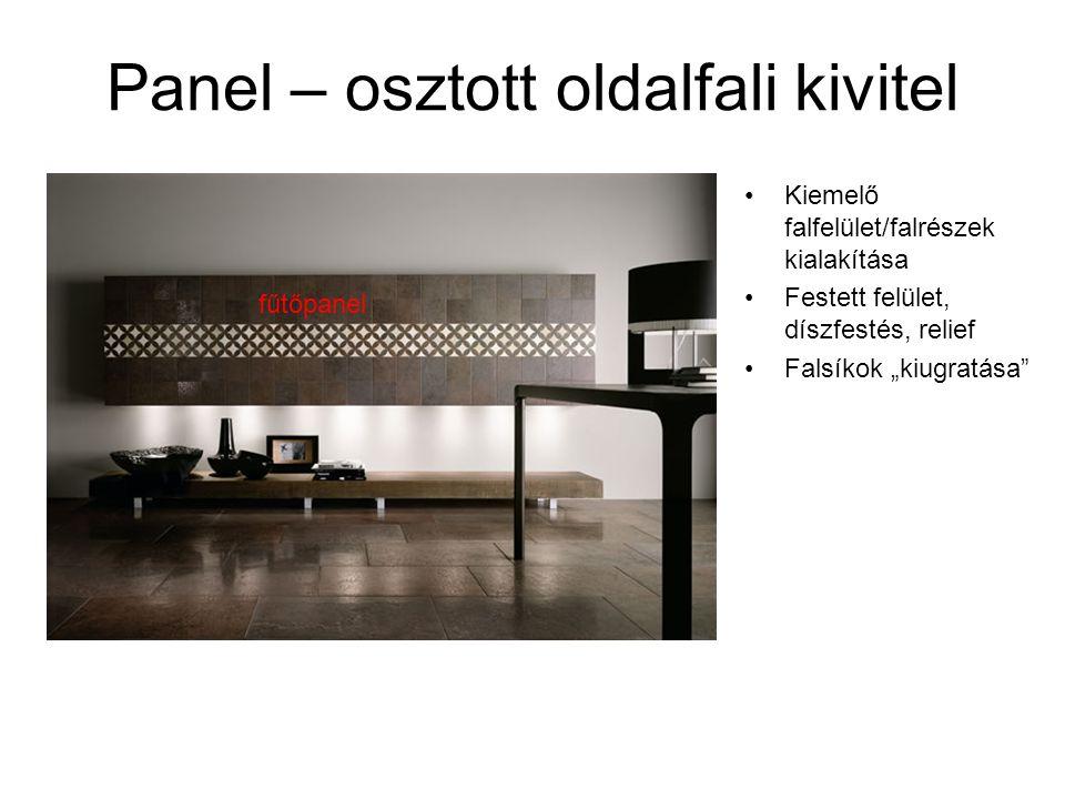 Panel – osztott oldalfali kivitel