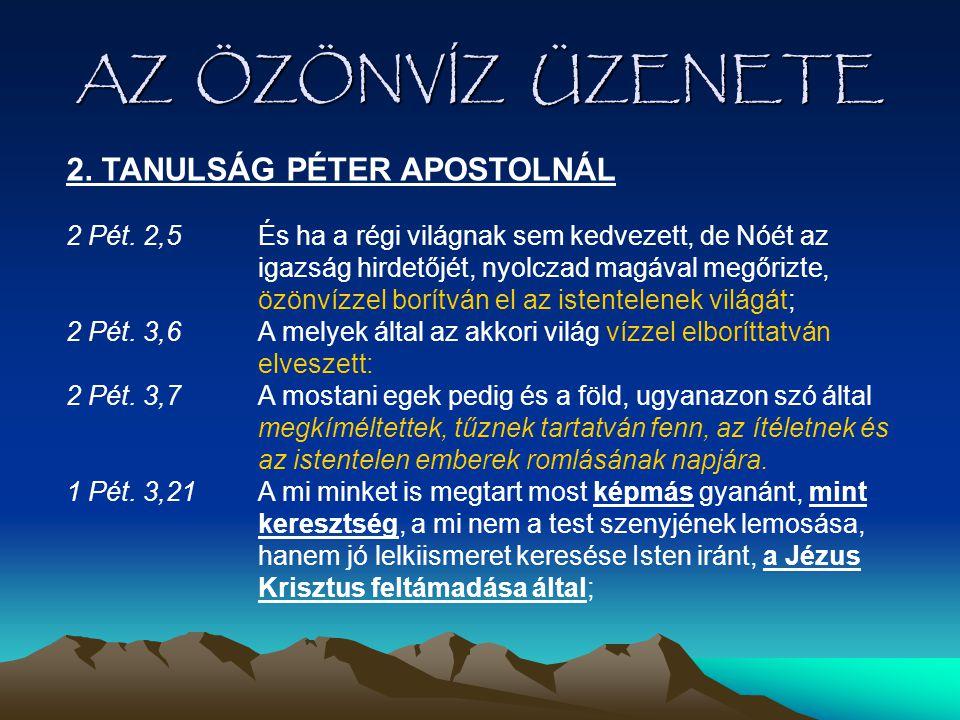 AZ ÖZÖNVÍZ ÜZENETE 2. TANULSÁG PÉTER APOSTOLNÁL