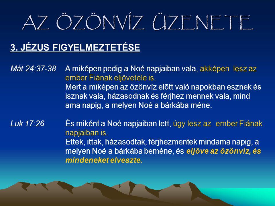 AZ ÖZÖNVÍZ ÜZENETE 3. JÉZUS FIGYELMEZTETÉSE