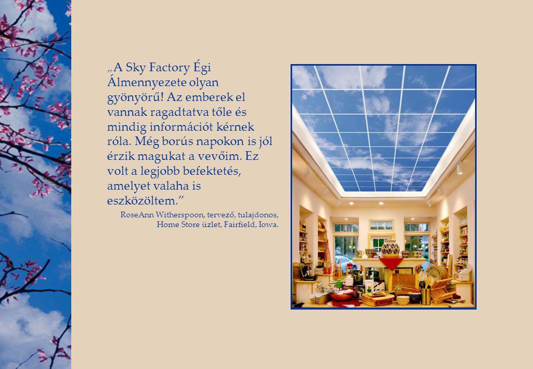 """""""A Sky Factory Égi Álmennyezete olyan gyönyörű"""