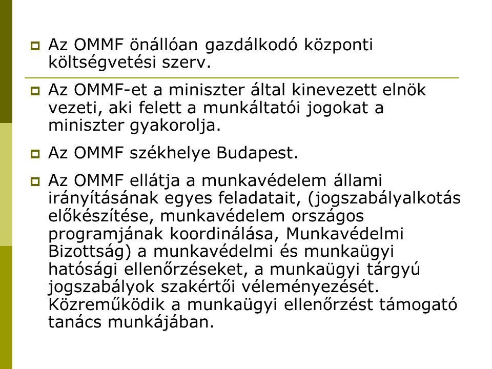 Az OMMF önállóan gazdálkodó központi költségvetési szerv.