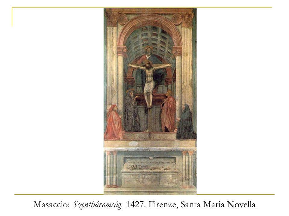 Masaccio: Szentháromság. 1427. Firenze, Santa Maria Novella