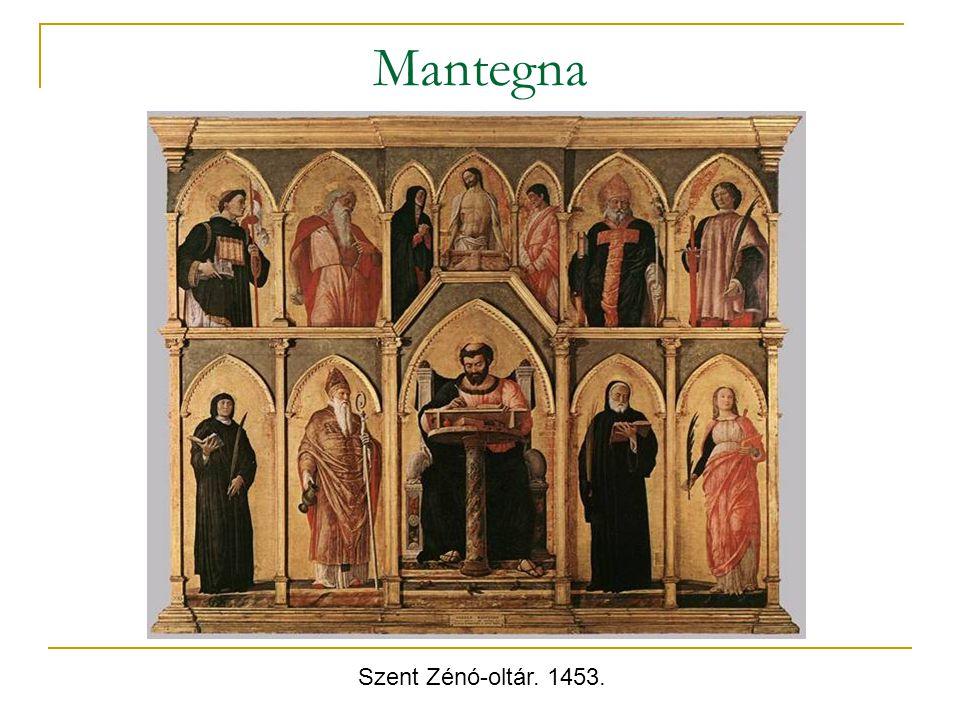 Mantegna Szent Zénó-oltár. 1453.
