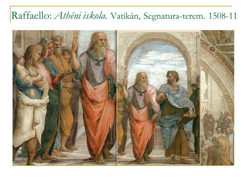 Raffaello: Athéni iskola. Vatikán, Segnatura-terem. 1508-11