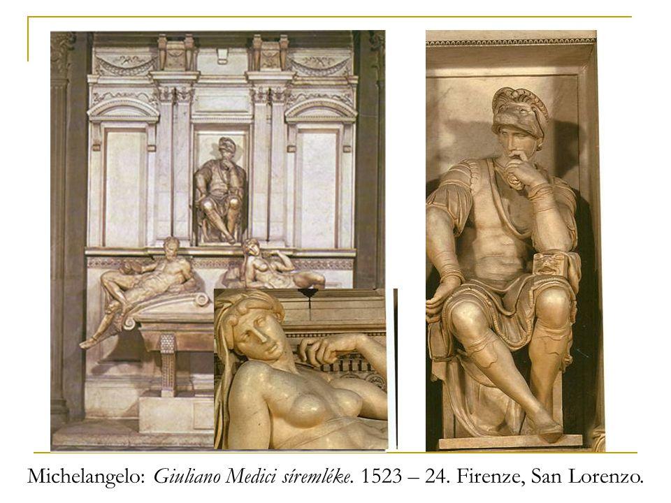 Michelangelo: Giuliano Medici síremléke. 1523 – 24