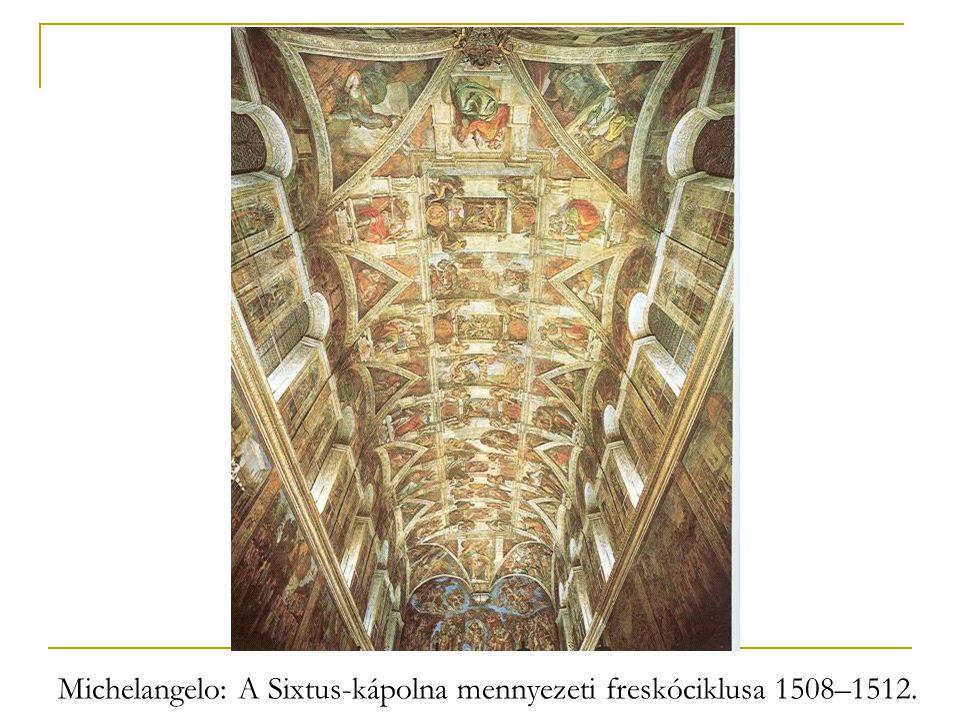 Michelangelo: A Sixtus-kápolna mennyezeti freskóciklusa 1508–1512.