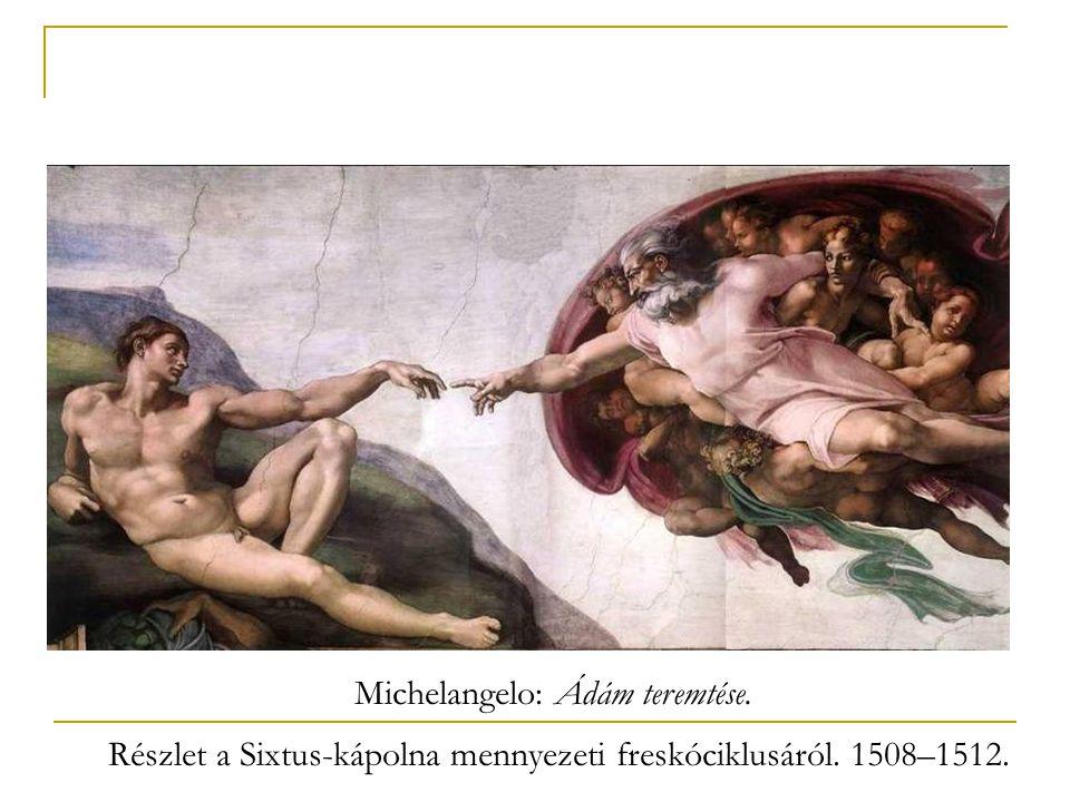 Michelangelo: Ádám teremtése.