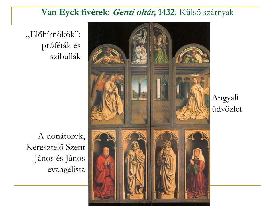Van Eyck fivérek: Genti oltár, 1432. Külső szárnyak
