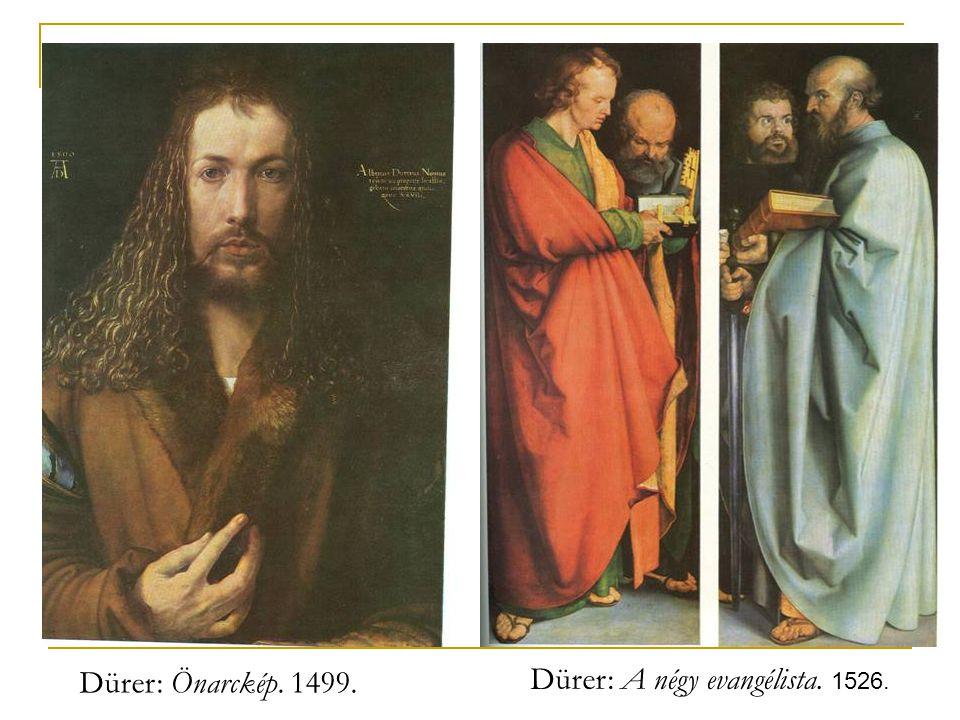Dürer: A négy evangélista. 1526.