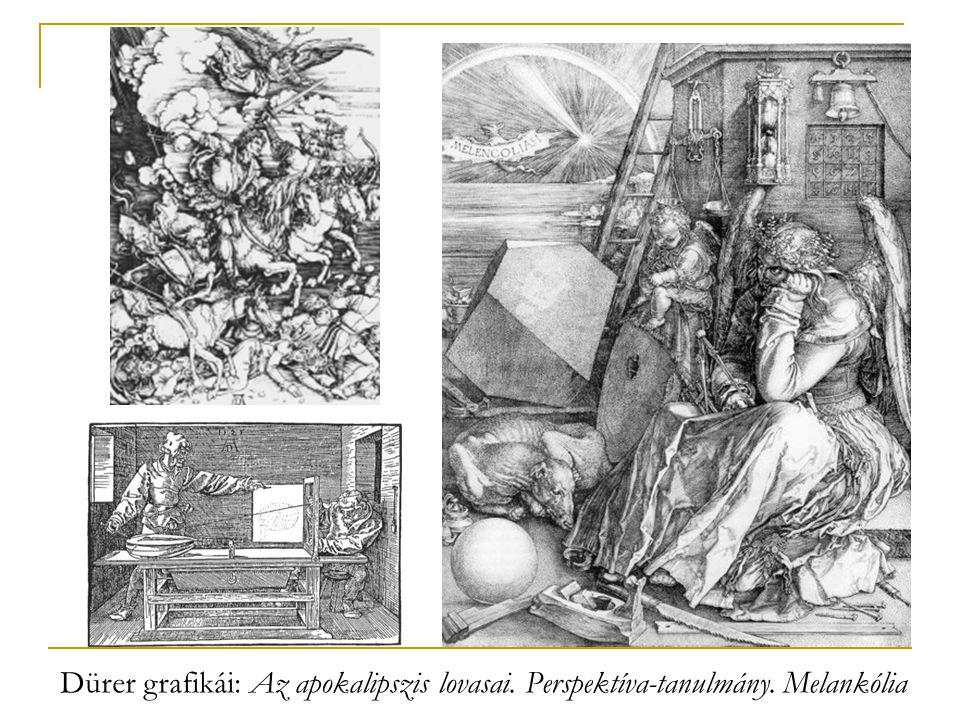 Dürer grafikái: Az apokalipszis lovasai. Perspektíva-tanulmány