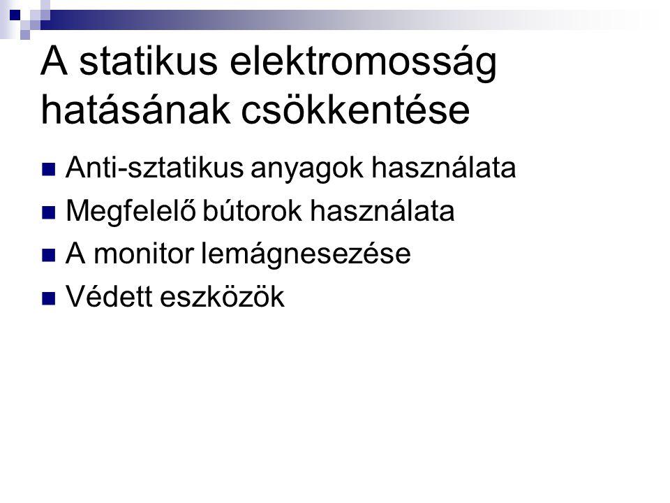 A statikus elektromosság hatásának csökkentése