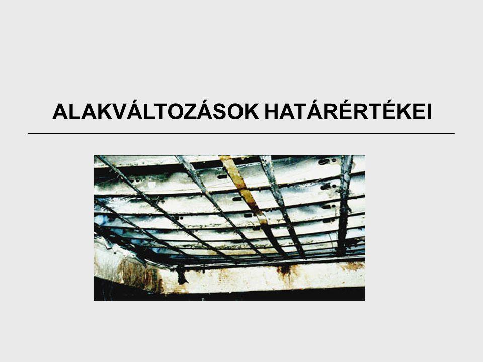 ALAKVÁLTOZÁSOK HATÁRÉRTÉKEI