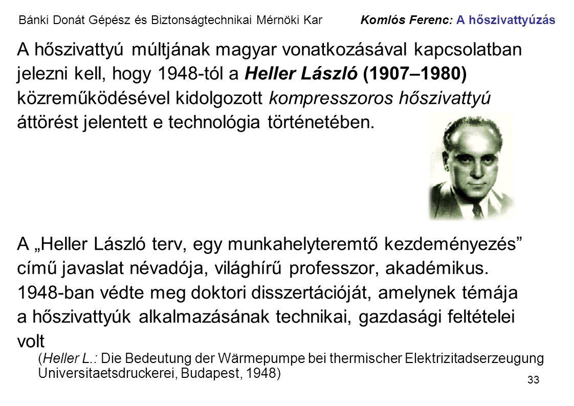 A hőszivattyú múltjának magyar vonatkozásával kapcsolatban