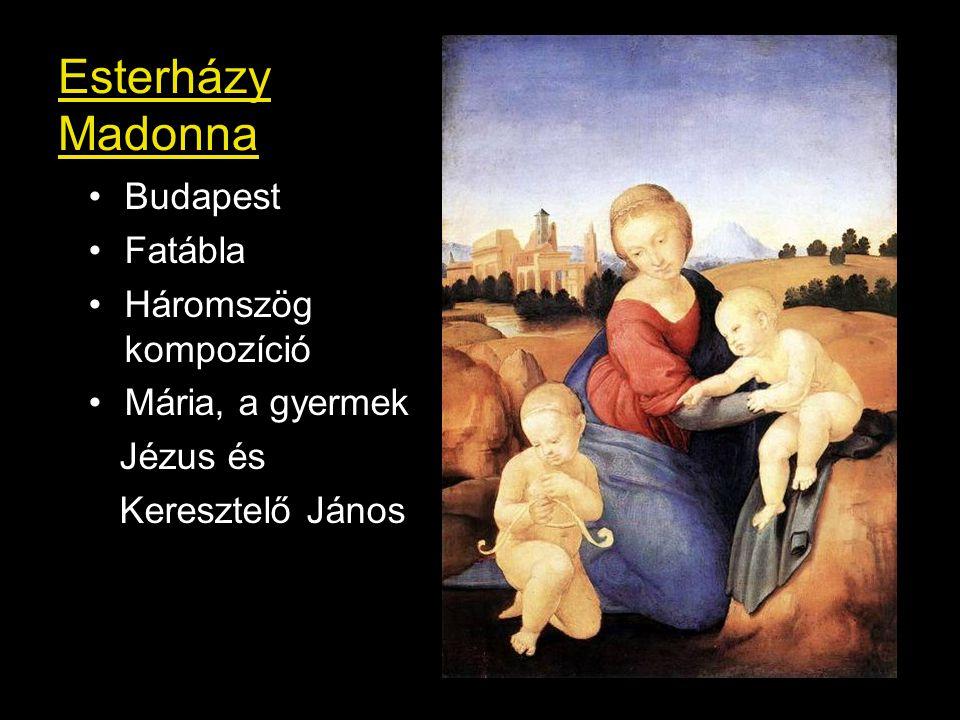 Esterházy Madonna Budapest Fatábla Háromszög kompozíció