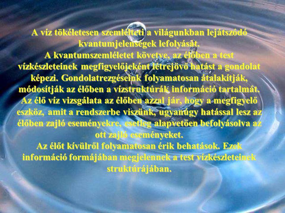 A víz tökéletesen szemlélteti a világunkban lejátszódó kvantumjelenségek lefolyását.