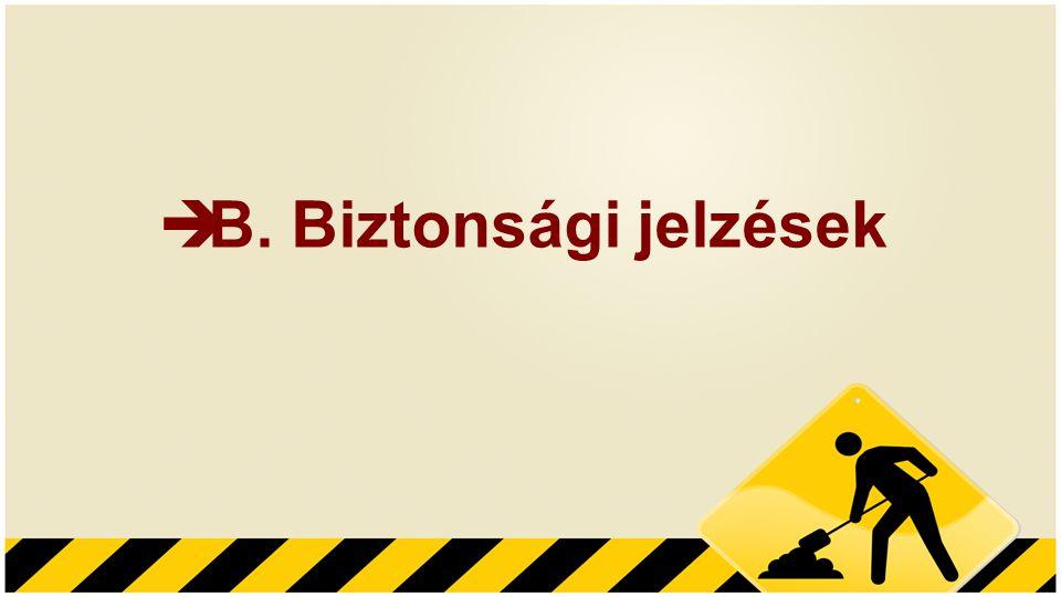 B. Biztonsági jelzések