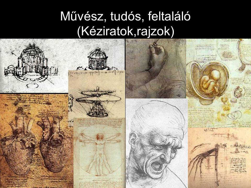 Művész, tudós, feltaláló (Kéziratok,rajzok)