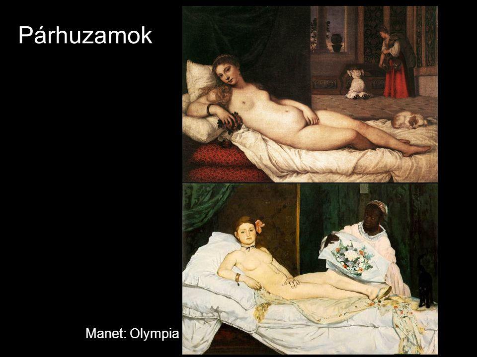 Párhuzamok Manet: Olympia