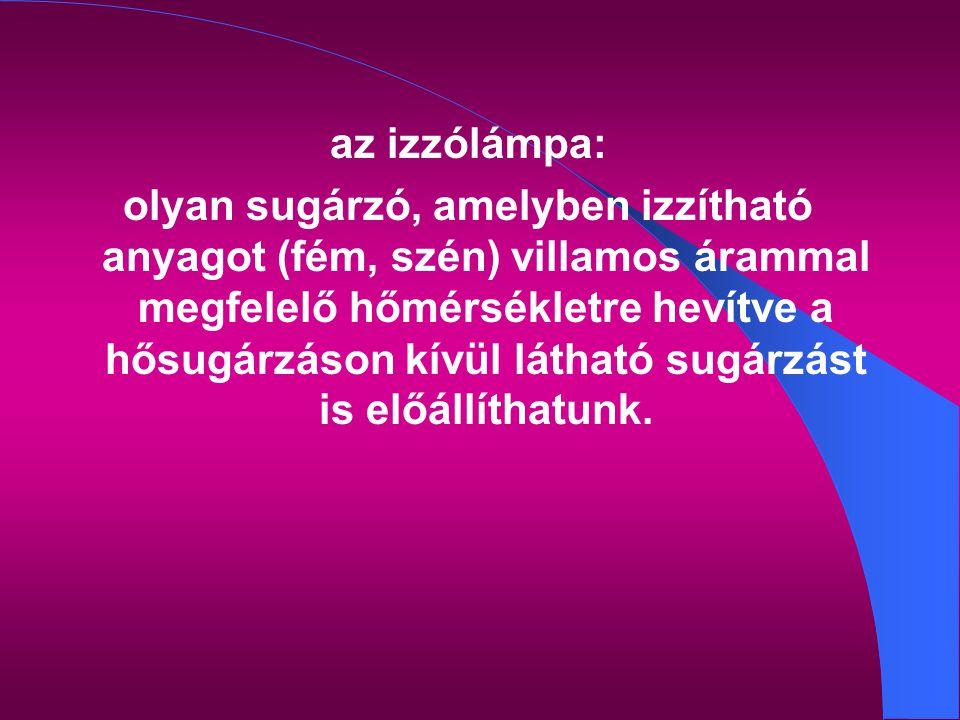 az izzólámpa: