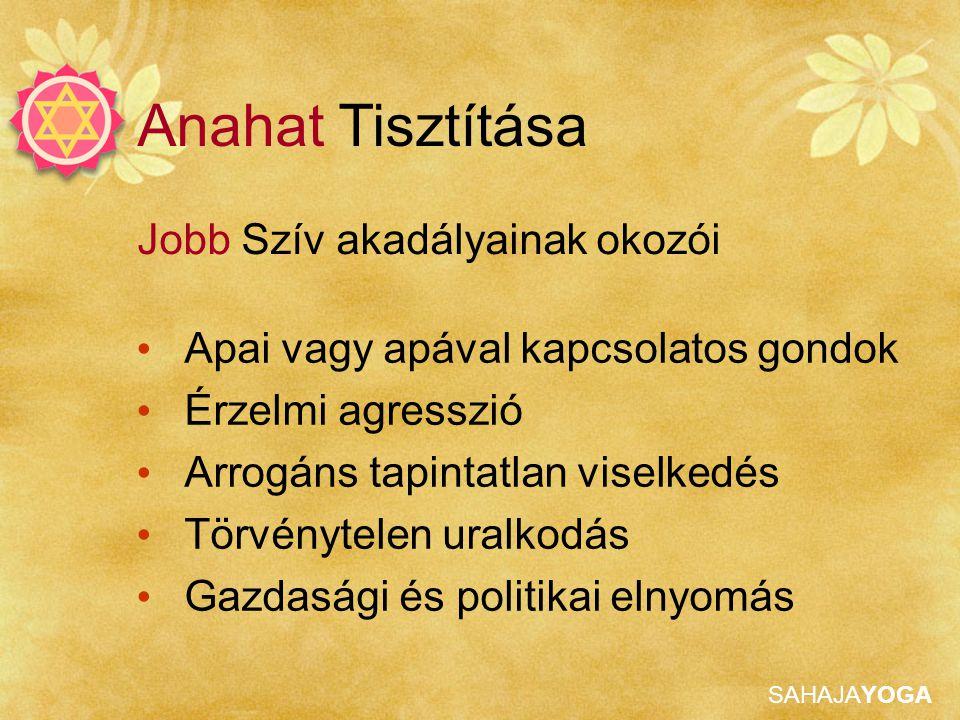 Anahat Tisztítása Jobb Szív akadályainak okozói