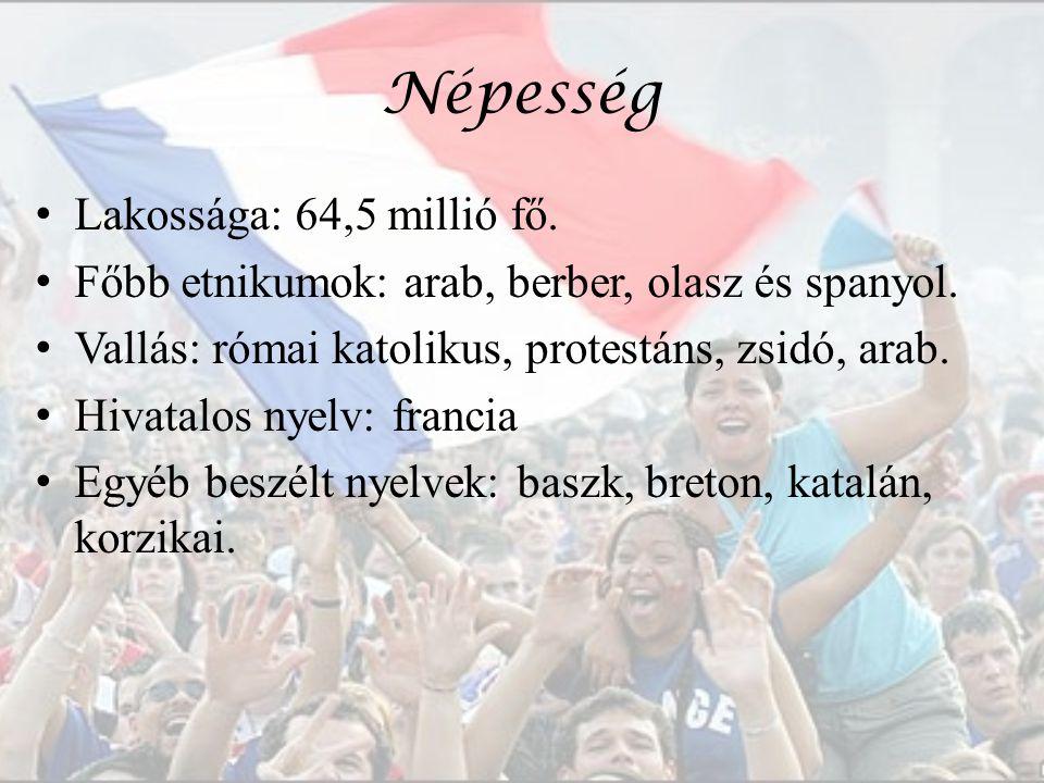 Népesség Lakossága: 64,5 millió fő.