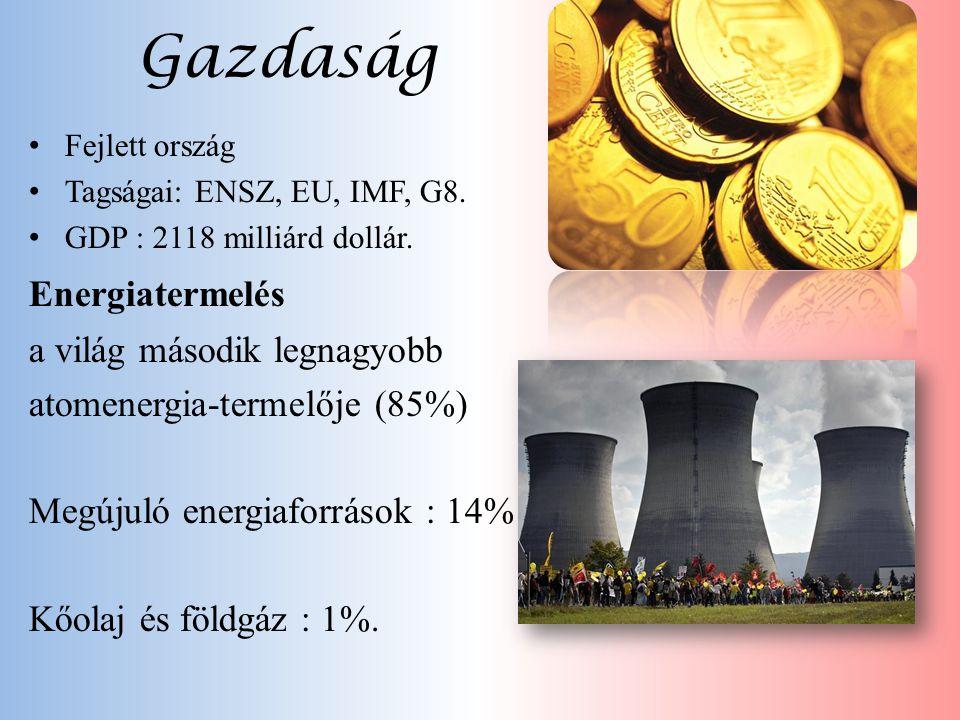 Gazdaság Energiatermelés a világ második legnagyobb