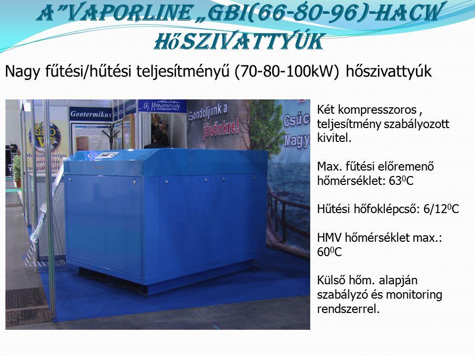 """A Vaporline """"GBI(66-80-96)-HACW hőszivattyúk"""