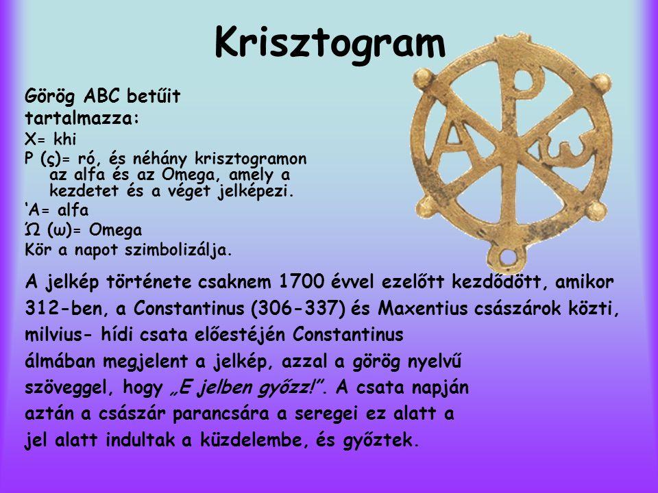 Krisztogram Görög ABC betűit tartalmazza: