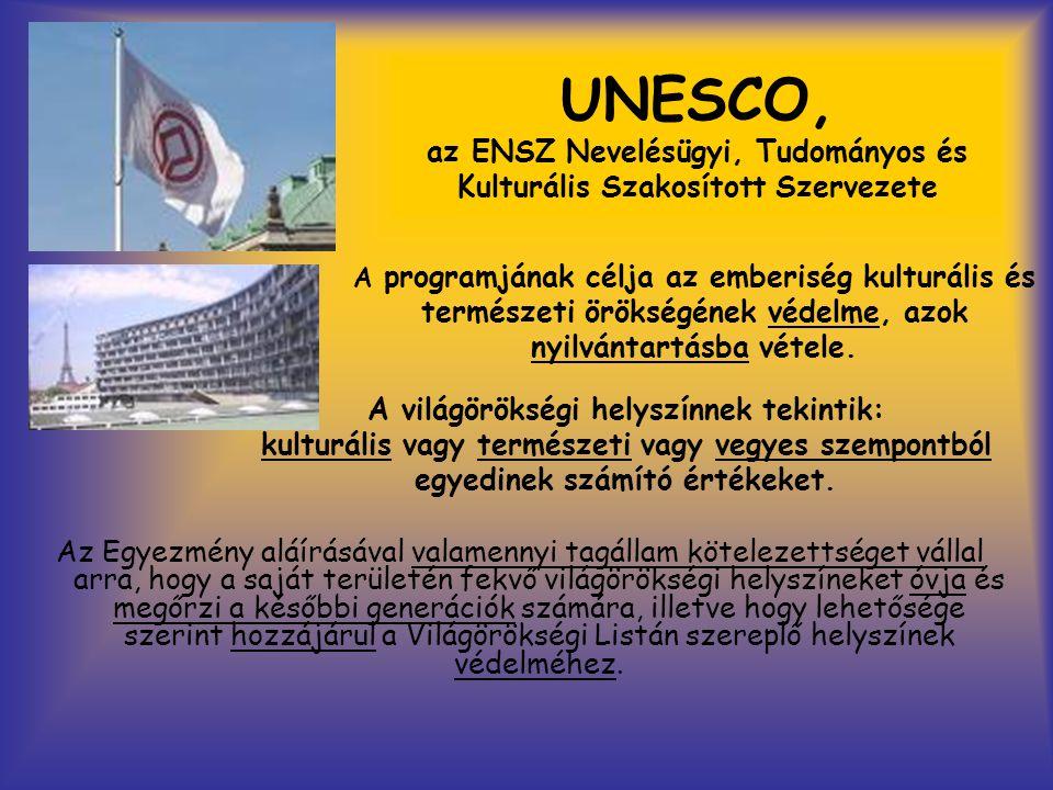 UNESCO, az ENSZ Nevelésügyi, Tudományos és Kulturális Szakosított Szervezete