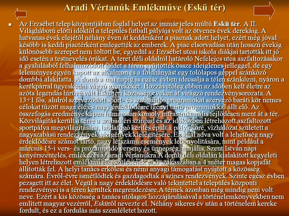 Aradi Vértanúk Emlékműve (Eskü tér)