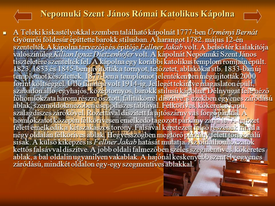 Nepomuki Szent János Római Katolikus Kápolna